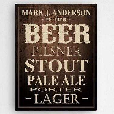 Beer Canvas Print - 18 x 24 - Free Personalization