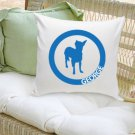 Classic Circle Silhouette Personalized Dog Throw Pillow- Free Personalization