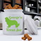 Personalized Classic Silhouette Dog Treat Jar - Free Personalization