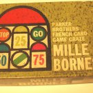 Mille Brones - Parker Brothers French Card Game Craz - Old 1963