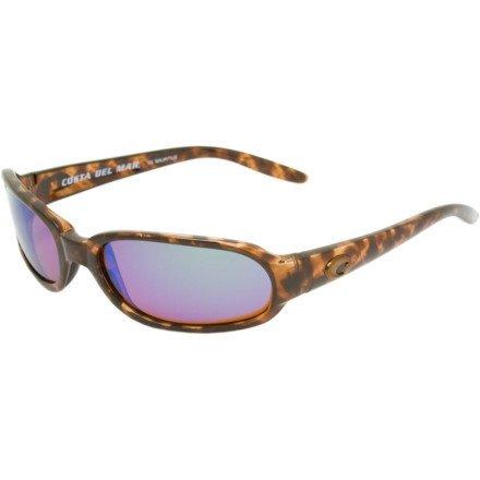 Costa Del Mar Tico 580 Polarized Lens Sunglasses Tort/Green NEW