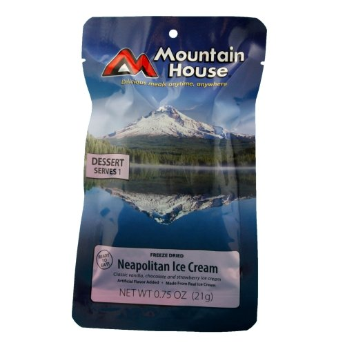 Mountain House Neapolitan Ice Cream Freeze Dried Meal .75oz