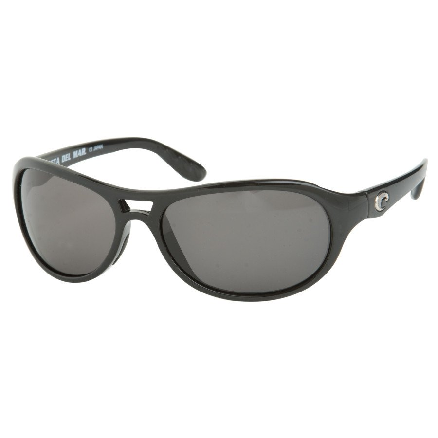 Costa Del Mar Pumphouse Polarized Sunglasses - Costa 400 Black/Gray