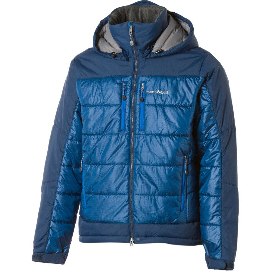 MontBell Thermawrap Insulated Guide Jacket - Men's L, Dark Navy/Pure Indigo