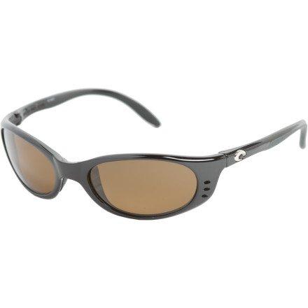 Costa Del Mar Stringer 400 Polarized Sunglasses - Black/Dk Amber