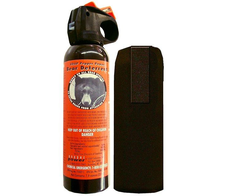UDAP 7.9 oz. Bear Spray with Hip Holster