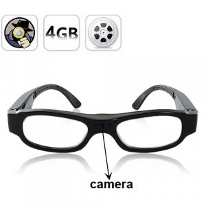 Discreet HD Spy Camera Glasses - Looks Exactly Like Normal Glasses