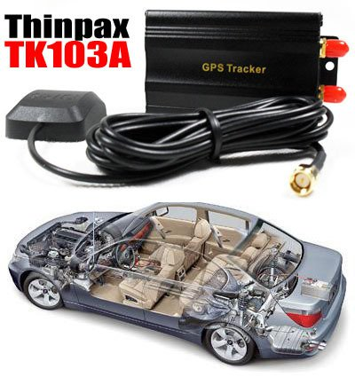 HOT!  Car Vehicle GSM/GPRS/GPS Tracker system Thinpax TK103-A