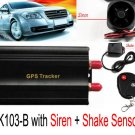 New GSM/GPRS/GPS Remote control Vehicle Tracker TK103B with Siren and Shake Sensor