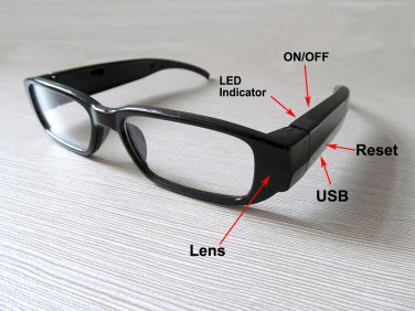A1000 1080P 5MP HD Glasses camera SPY eyewear Camcorder with Undetectable Lens