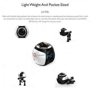 New HD Mini 360 Degree Panoramic Sport DV Underwater 40M Extreme Action Camera