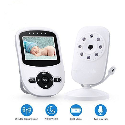 Video Baby Monitor with 2.4 inch LCD Display and Two Talk way and High Capacity Battery