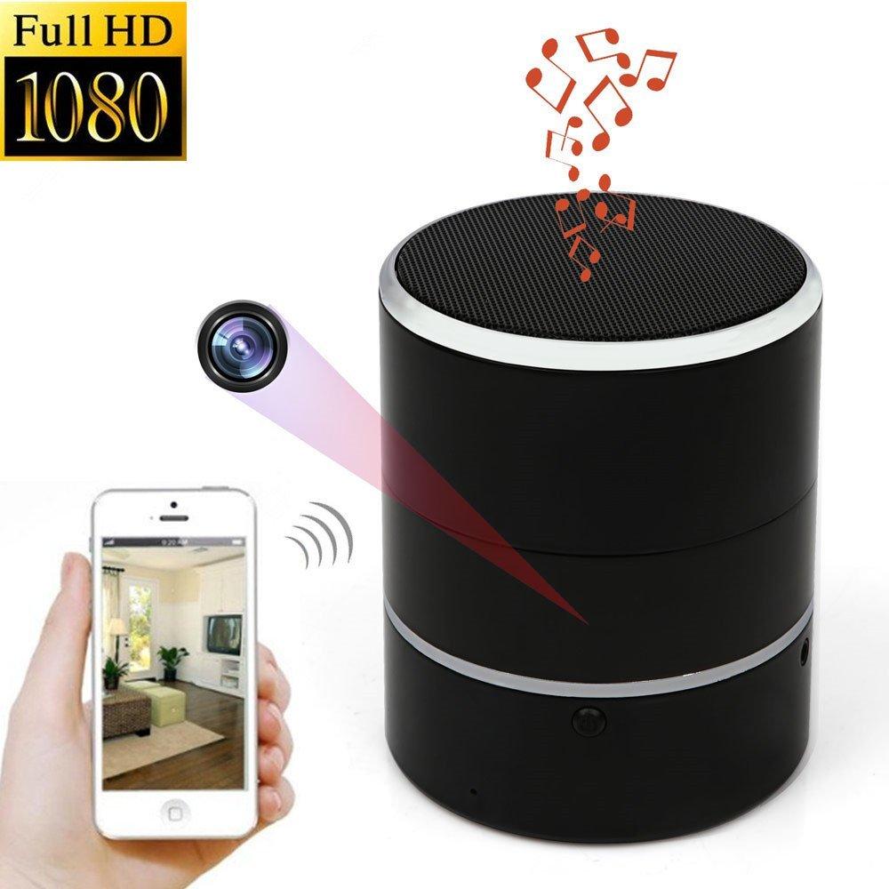 1080P WiFi HD Spy Cam Bluetooth Speakers Wireless Mini Camera