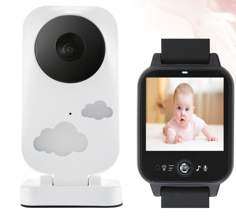 2.4Ghz Wireless Video Baby Nanny Cry Alarm Camera Night Vision Watch Baby Monitor