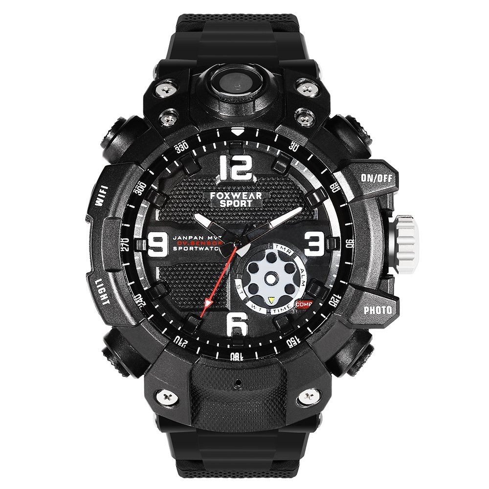 New Wifi Watch Hidden Camera 2K Waterproof Sports Action Mini Camcorder Spy Watch DVR Fox10 32GB