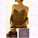 BELABUMBUM FL05 Fleur Lace Lounge Underwire Corset Cami S Grape