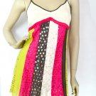 $99 New VICTORIA'S SECRET Stars Sequins Silk Strappy Back Tunic Dress S