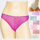$18 New BELABUMBUM Copacabana Opulent Geo Lace Low-Rider Thong Panties S M L