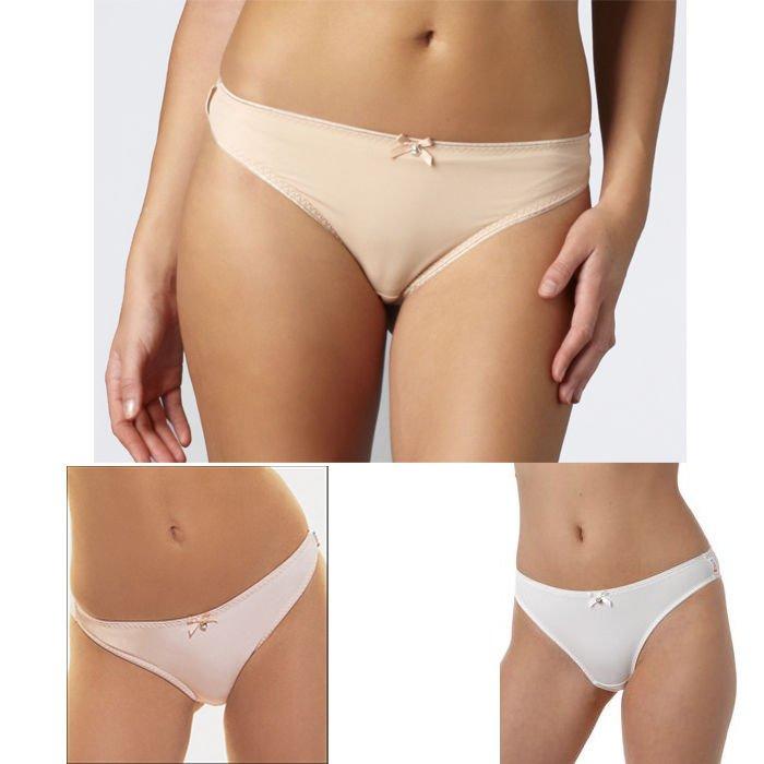 $34 New FREYA 3471 Retro Basic Super Soft Hi-Tech Microfiber Thong Panty S L XL