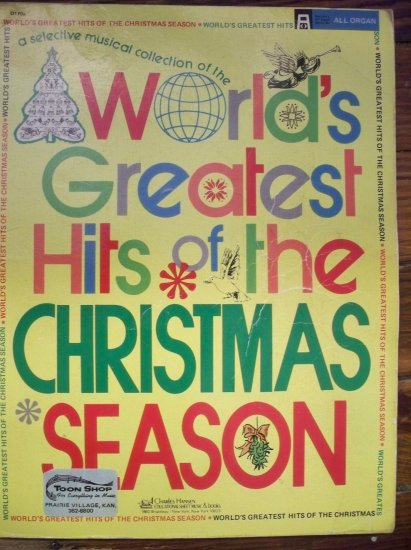 Worlds Greatest Hits of the Christmas Season~All Organ Music Book