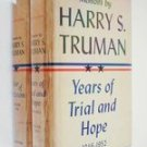 Memoirs ~ by Harry S. Truman First Edition Volume 1 & 2