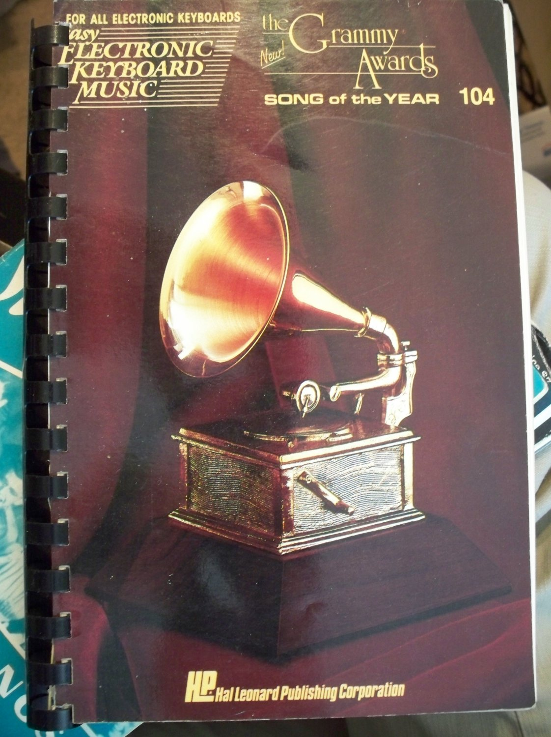 The Grammy Awards Song of the Year Easy Electronic Keyboard Music Book