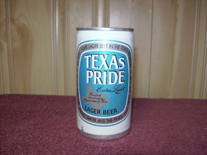 Texas Pride Extra Light Beer Can Pearl Brewing Co San