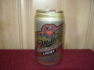 MILLER GENUINE DRAFT LIGHT BEER Can-Miller brewing Co Milwaukee, Wi. Sta Tab