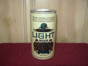 SCHLITZ LIGHT BEER Can-Jos Schlitz Brewing Co. Tab Top