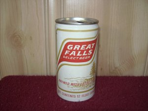 GREAT FALLS SELECT BEER Can-Blitz Weinhard Co. Tab Top