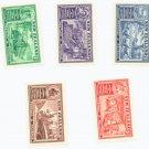 New Zealand Scott #218-22  5 vars. MNH Stamp