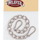 ENGLISH CURB CHAIN WITH SAFETY SPRING SNAPS BY WEAVER LEATHER