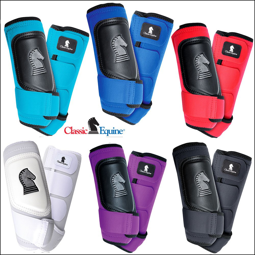 CLASSIC EQUINE CROSS FIT HORSE LEG BOOT FRONT REAR HIND ALL COLOR & SIZES