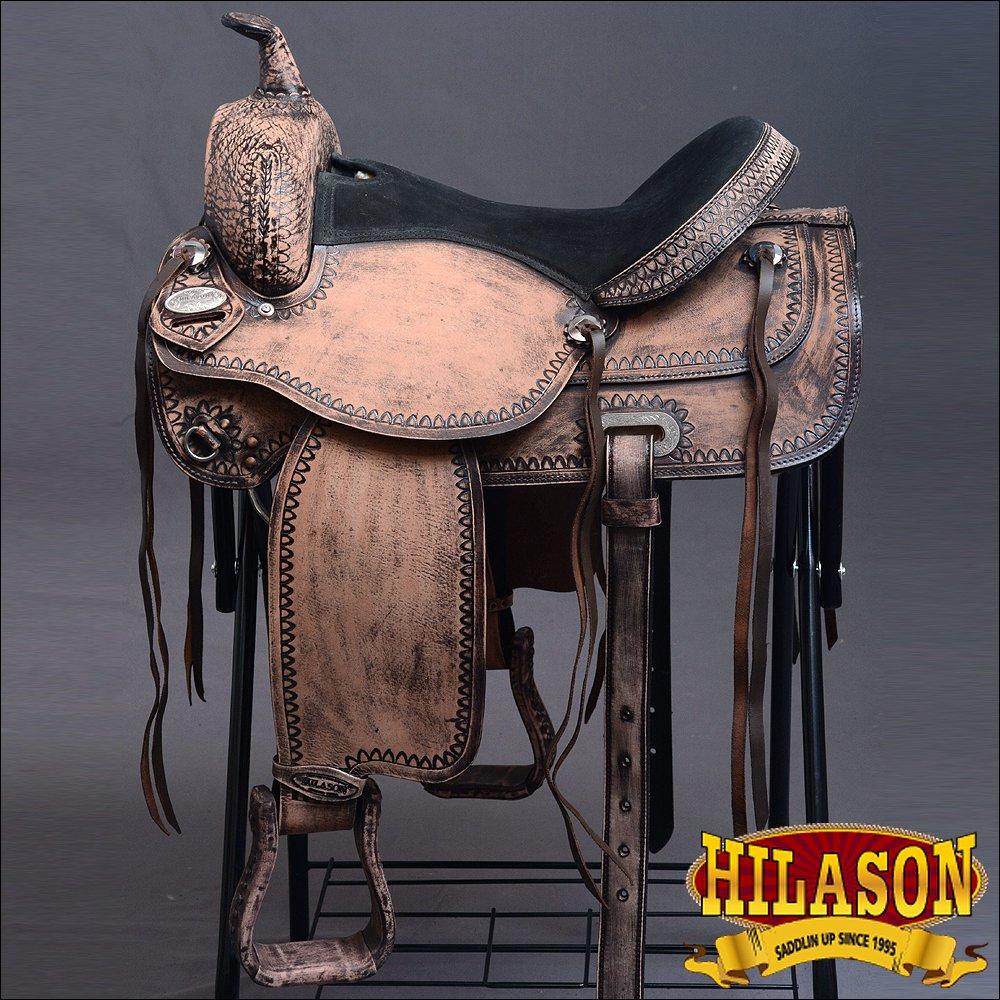 DF203ROF HILASON WESTERN DRAFT HORSE TRAIL PLEASURE RIDING ENDURANCE SADDLE 17