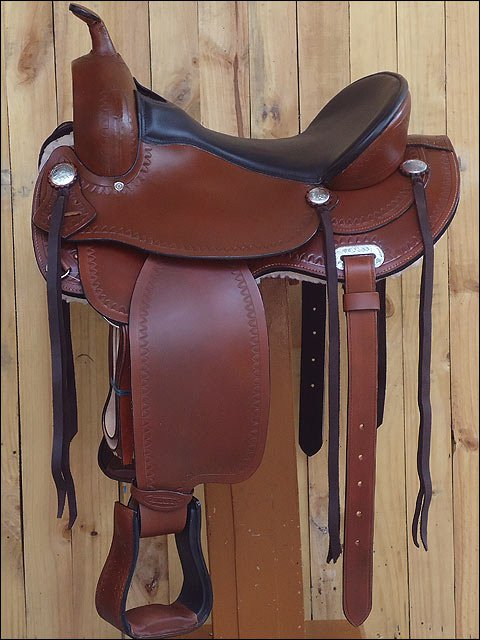 TO109CB-F HILASON TREELESS WESTERN TRAIL PLEASURE RIDING BARREL RACING SADDLE 15