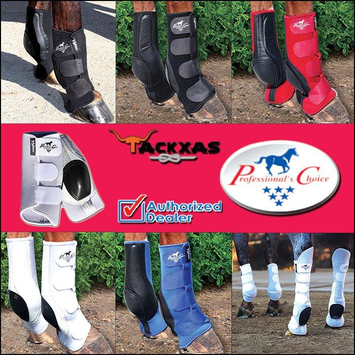 PC-SKBV PROFESSIONAL CHOICE VENTECH SLIDE TEC HORSE LEG SKID BOOTS PAIR