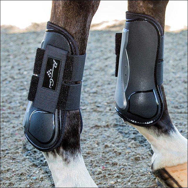 PROFESSIONAL CHOICE PRO MEMORY FOAM OPEN FRONT SHOW HORSE TENDON JUMP BOOT BLACK