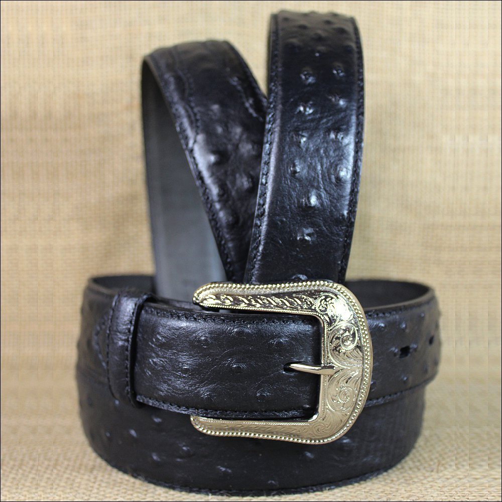 "32x1 1/2"" 3D BLACK MENS DRESS LEATHER BELT 3 PIECE INLAY REMOVABLE SILVER BUCKLE"