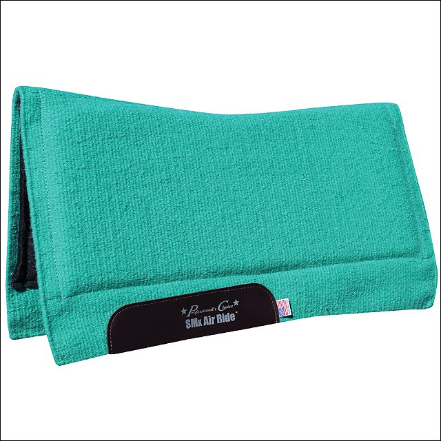 """PROFESSIONAL CHOICE COMFORT FIT SMX 3/4"""" AIR RIDE HORSE WOOL/FELT SADDLE PAD"""