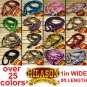 """NEW Braided Poly Barrel Racing Contest Reins Flat W/Easy Grip Knots 1"""" X 8ft."""