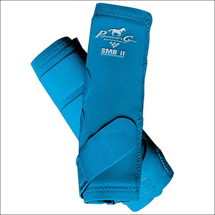 SMALL PROFESSIONAL CHOICE SMBII HORSE LEG SPORTS MEDICINE COMBO BOOTS PACIFIC BL