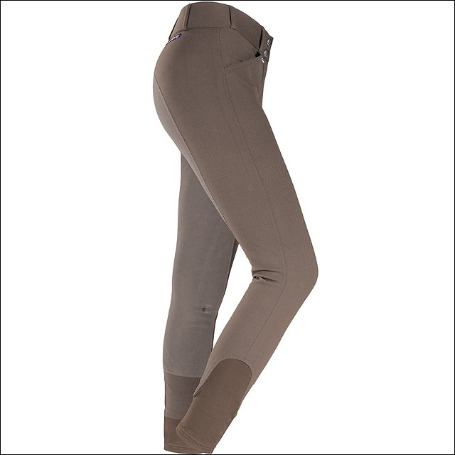"32"" HORZE GRAND PRIX WOMENS EXTEND FULL SEAT RIDING COTTON BREECHES FUNGI"
