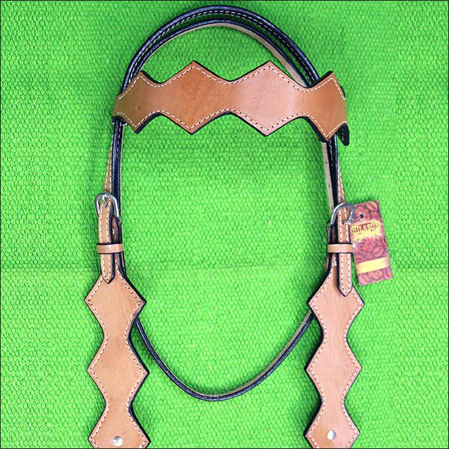 A902 NEW HILASON WESTERN LEATHER HORSE BRIDLE HEADSTALL TAN