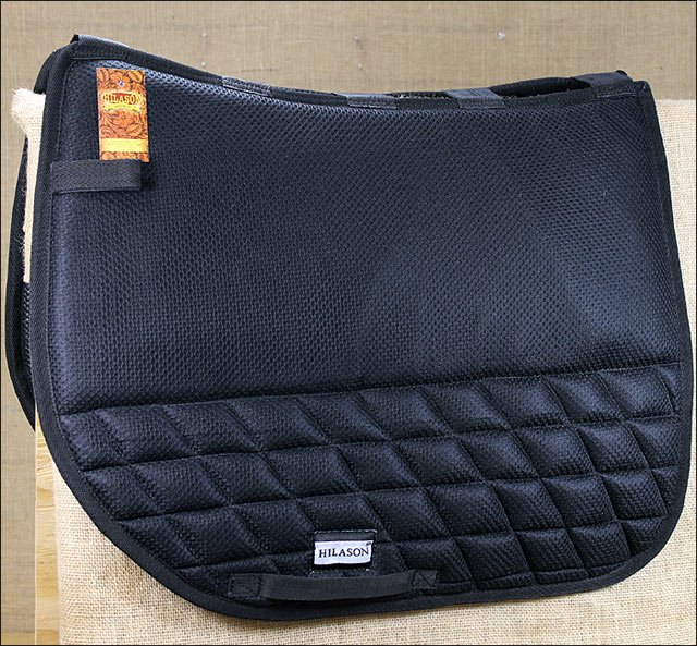 TA301F- HILASON ENGLISH DRESSAGE GEL SADDLE PAD BASE ANTI-SLIP - BLACK