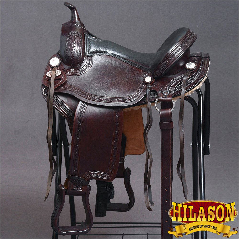 "GS116F- HILASON GAITED WESTERN TRAIL PLEASURE ENDURANCE SADDLE 15"" 16"" 17"" 18"""