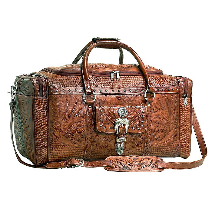 AW856 AMERICAN WEST ANTIQUE BROWN LEATHER LUGGAGE RODEO BAG SHOULDER HANDBAG