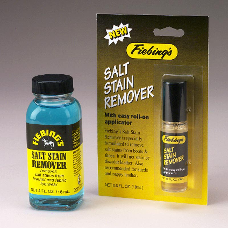 FIEBING'S SALT STAIN REMOVER FROM LEATHER FABRIC FOOTWEAR 1GAL/4OZ/32OZ