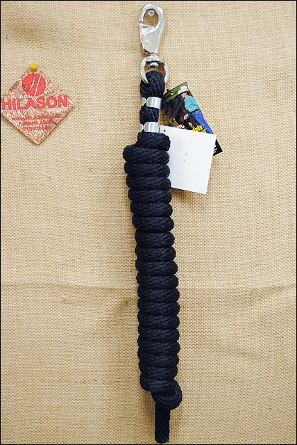 10 FEET POLY LEAD ROPE WITH NICKEL PLATED BULL SNAP WEAVER LEATHER