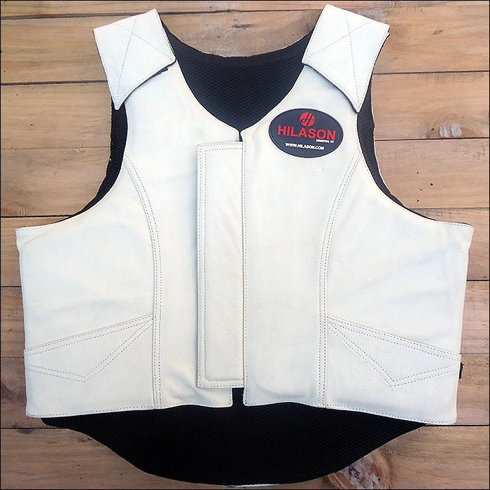 XX LARGE HILASON BULL RIDING PRO RODEO LEATHER PROTECTIVE VEST GEAR EQUIPMENT