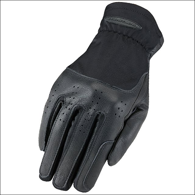 6 SIZE HERITAGE KIDS LEATHER CLASSIC SHOW STRETCH FLEXIBLE NYLON GLOVES BLACK